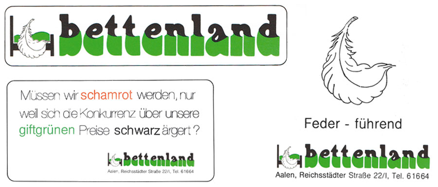 logo schriftzug corporate design bettenladen