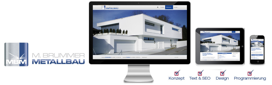 responsive website metallbau rosenheim